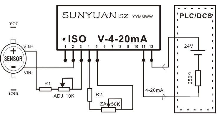 两线制电压信号隔离配电器