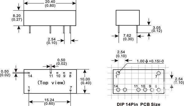 DIP封装DC-DC工控双隔离回路模块电源应用